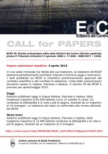 poster CALL FOR PAPERS BCSP - IT